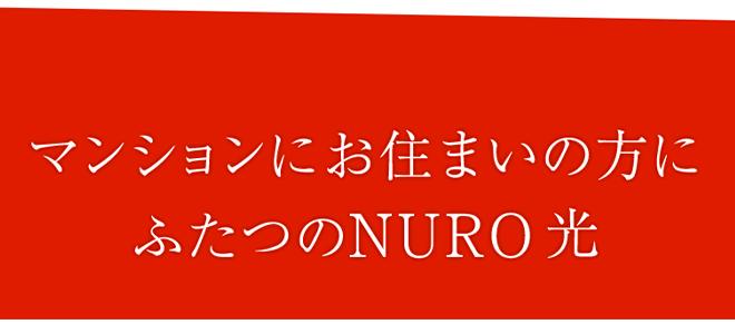 NURO光のマンションプランは2つある