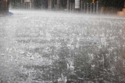 auひかりの工事日に悪天候