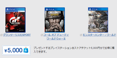 NURO光公式PS4ソニーストアチケット