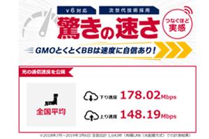 ドコモ光×GMOの速度保証